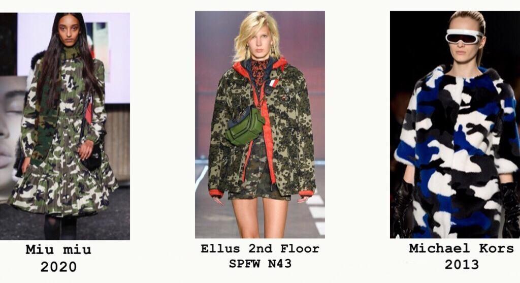 São Paulo Fashion Week 2017; Michael Kors em New York Fashion Week 2013. Camuflados