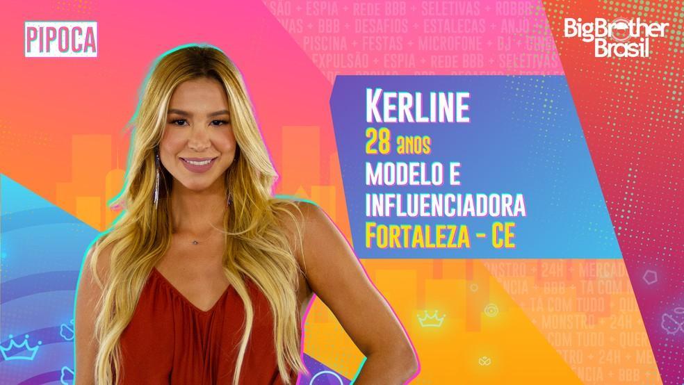 Kerline, uma das participantes do BBB21