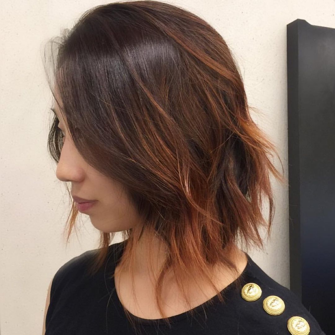 Black hair with highlights 10