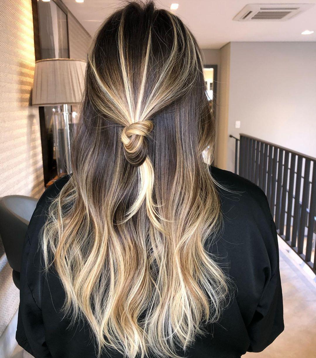 Dark Hair With Lights 32