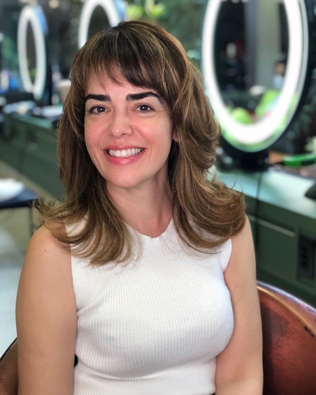 Medium haircut 12