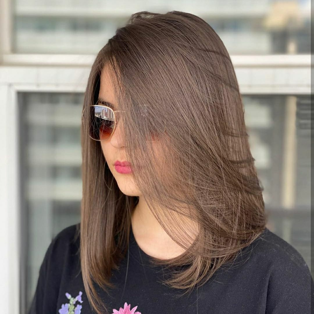 Medium haircut 16