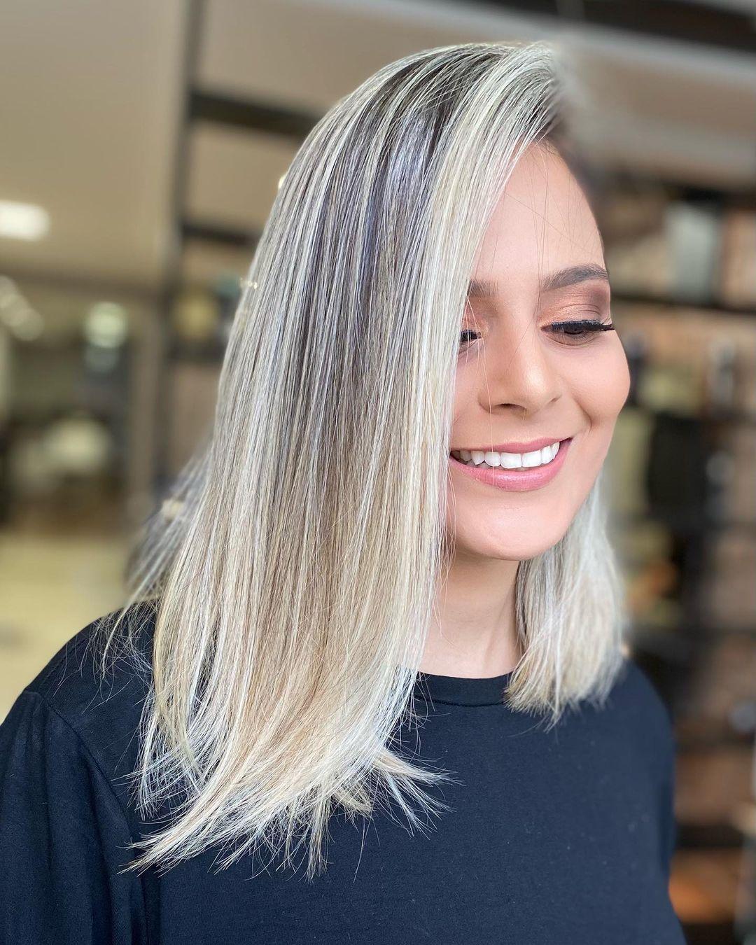Medium haircut 18