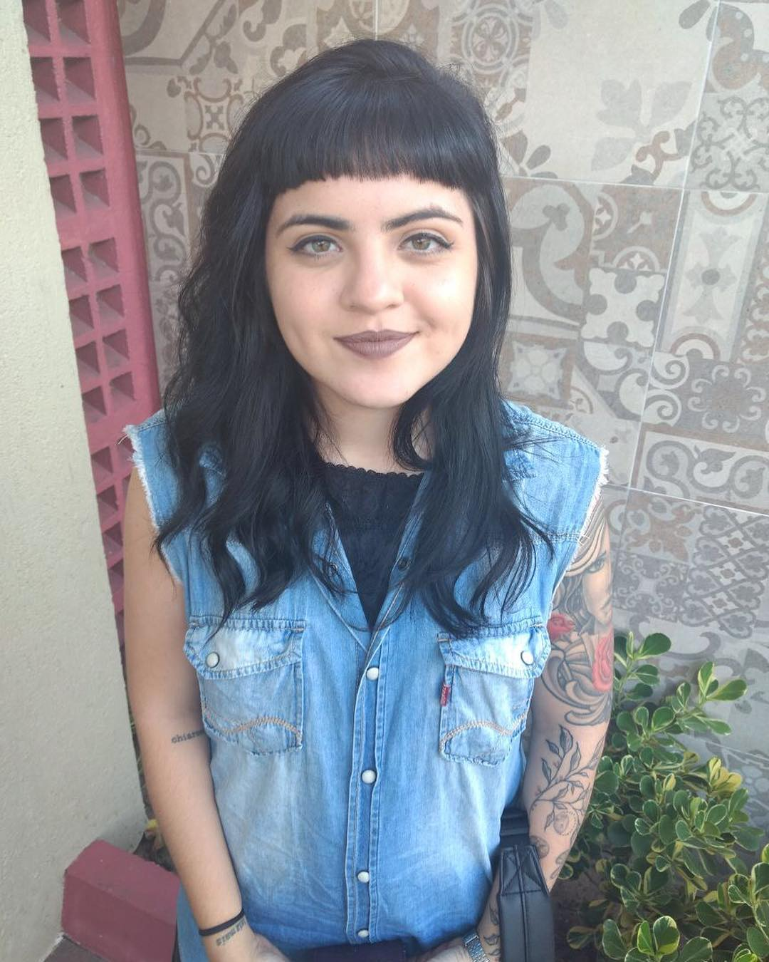 medium hair with bangs 10
