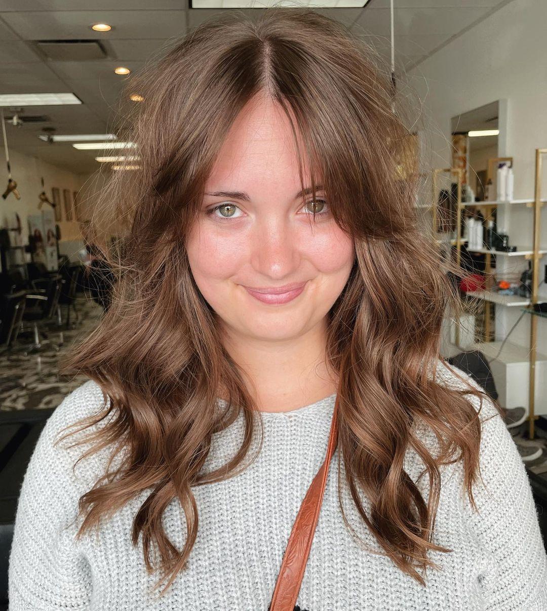 medium hair with bangs 13