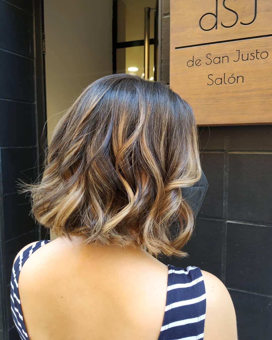 shiny brunette short hair 1