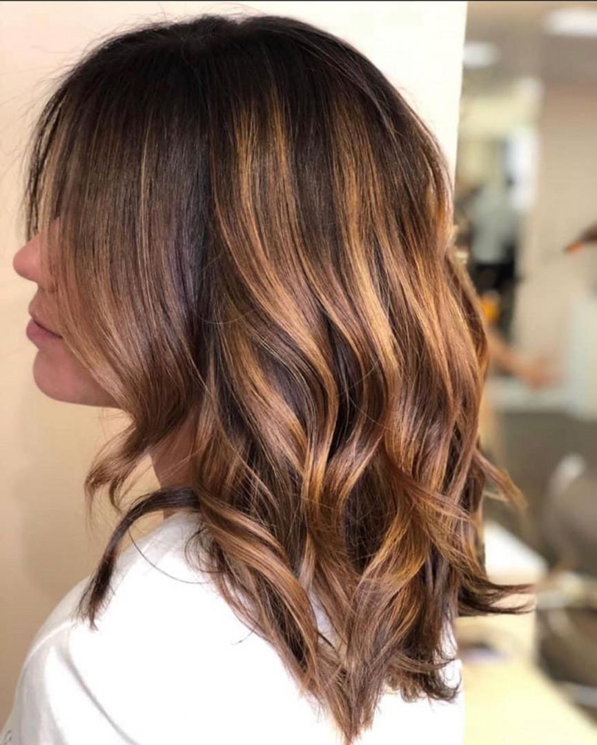 shiny brunette short hair 17