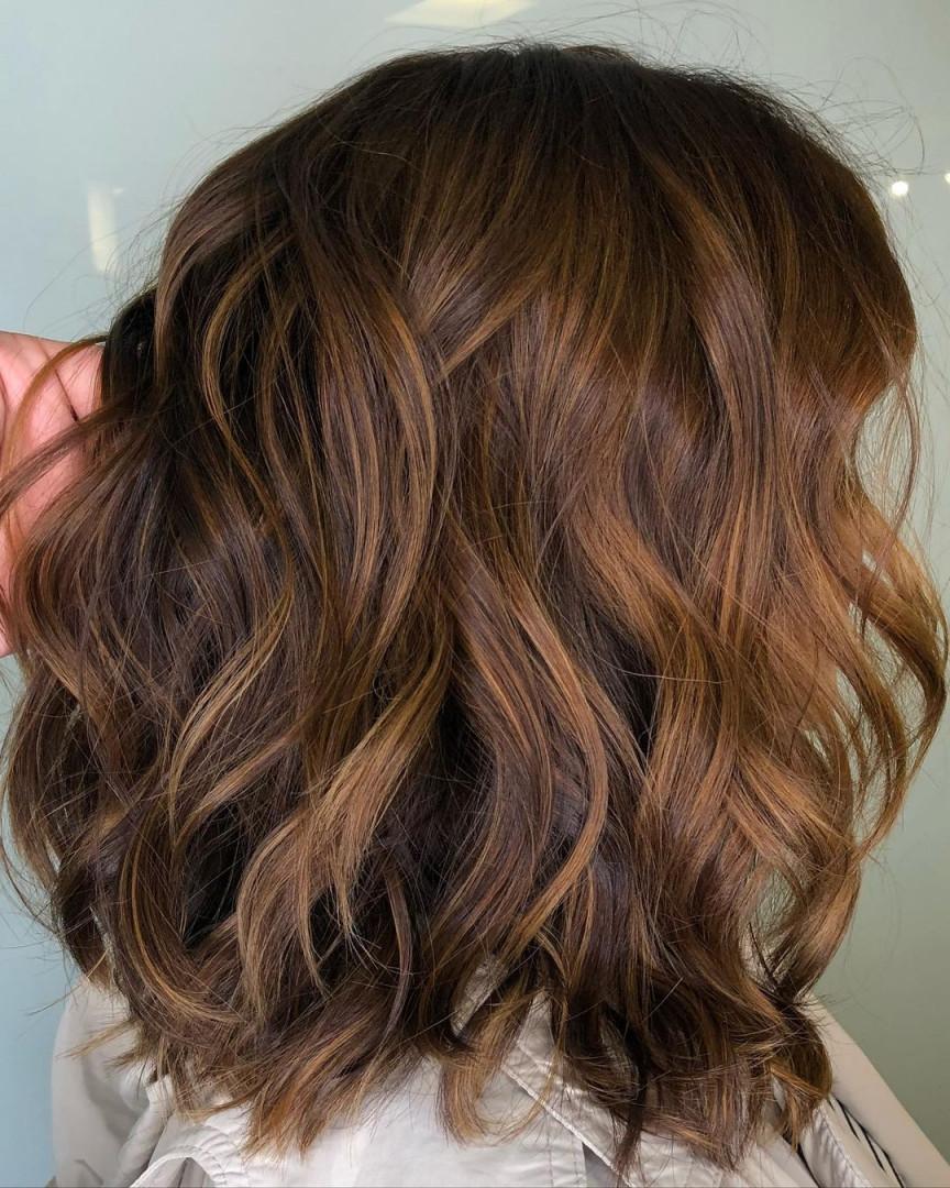 shiny brunette short hair 18