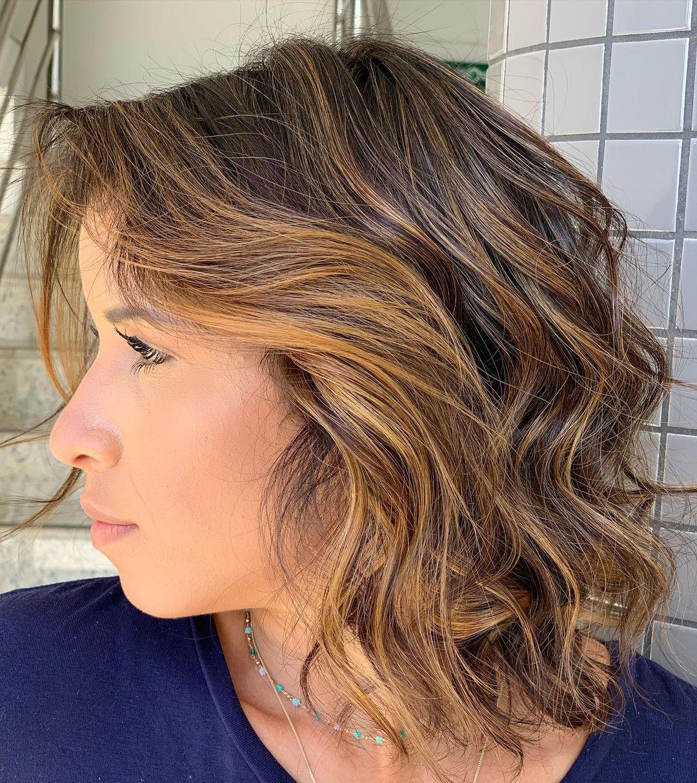 shiny brunette short hair 19