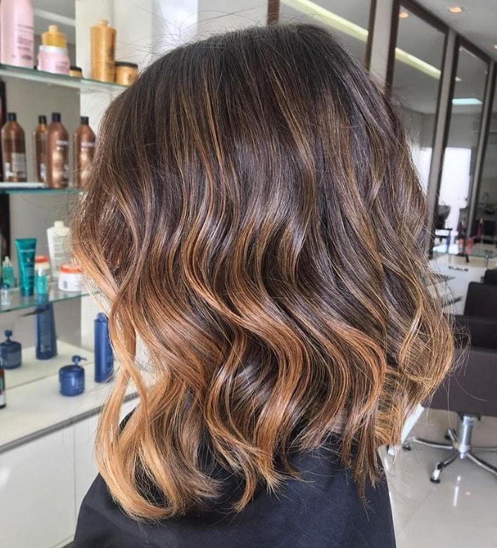 shiny brunette short hair 20