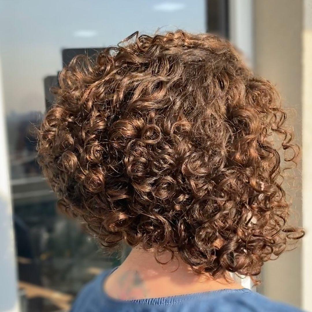 shiny brunette short hair 22