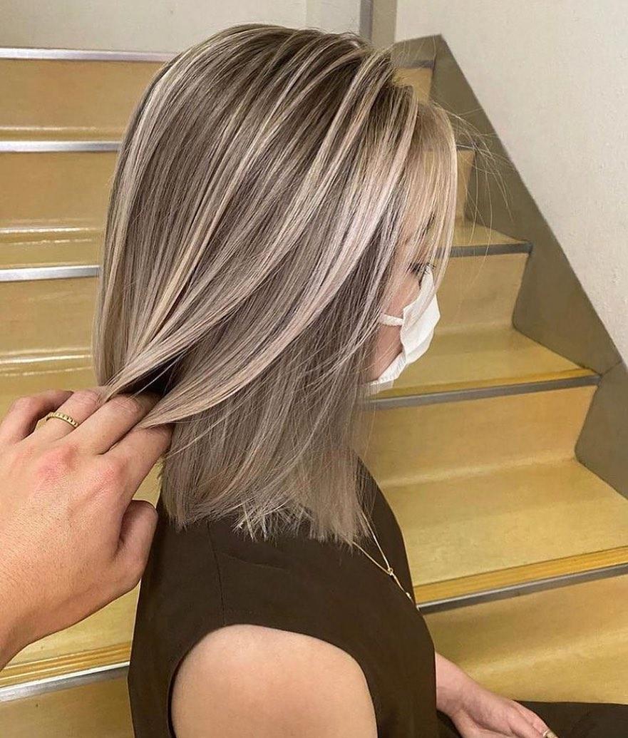 shiny brunette short hair 9