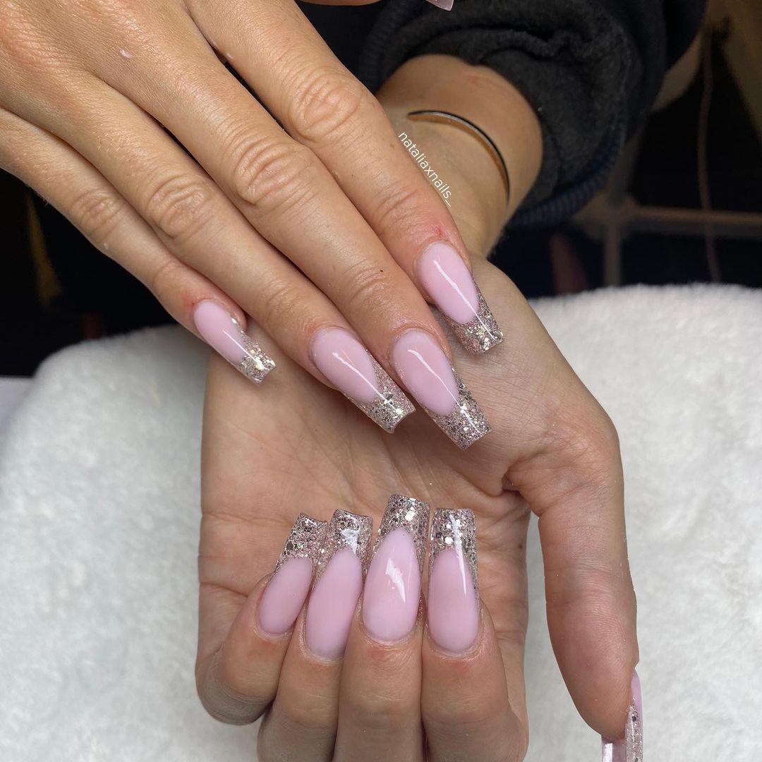 clear nails with francesinha 15