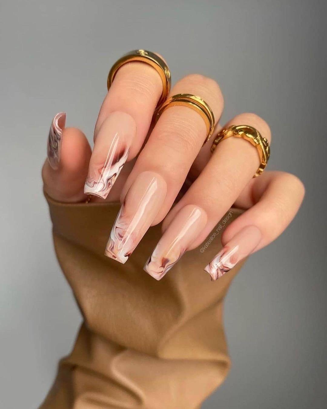clear nails with francesinha 19