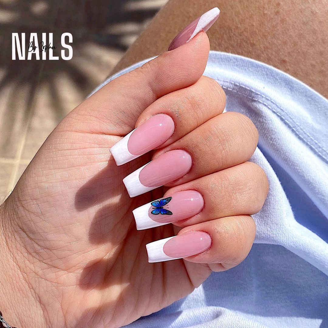 clear nails with francesinha 2