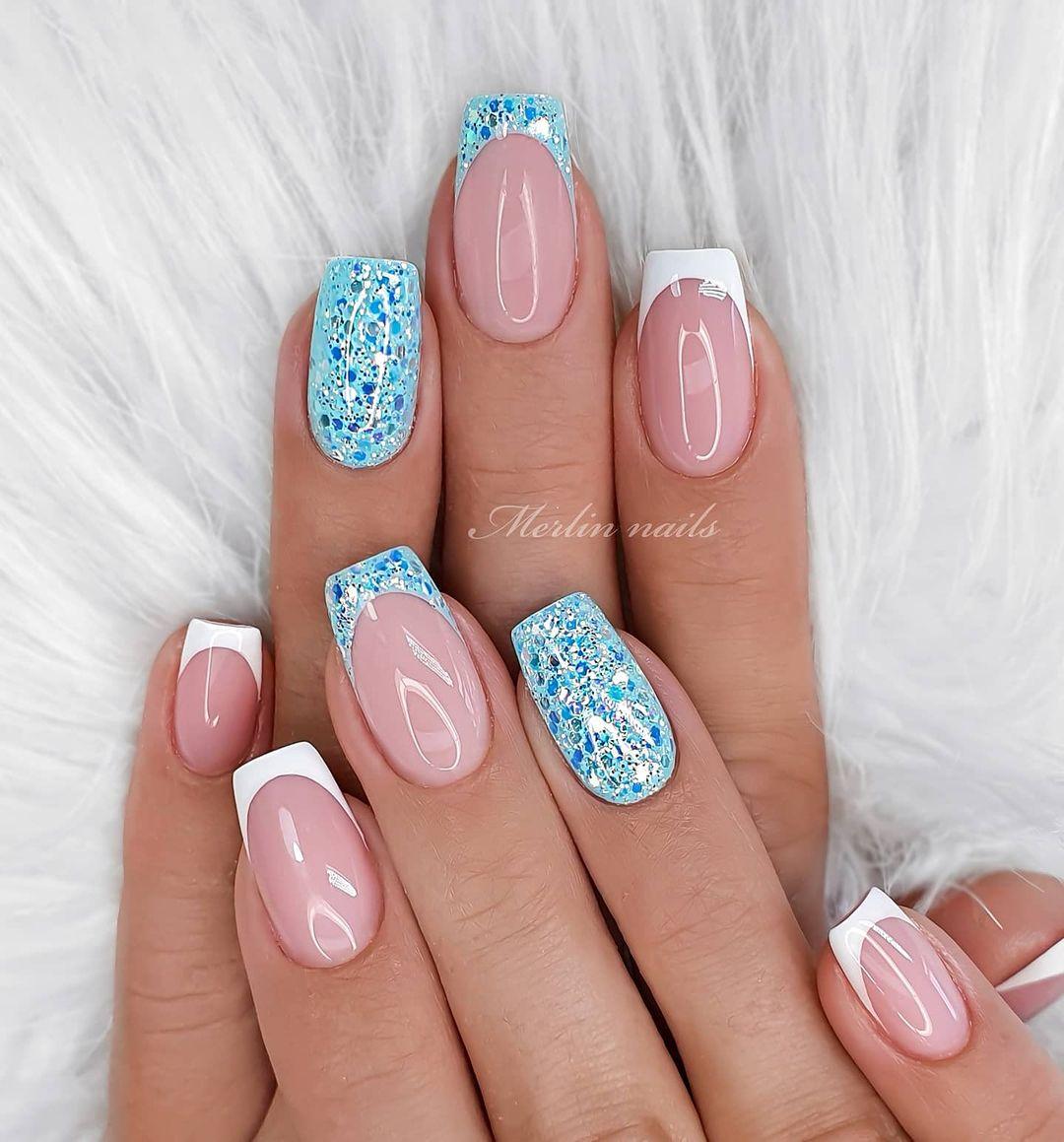 clear nails with francesinha 21