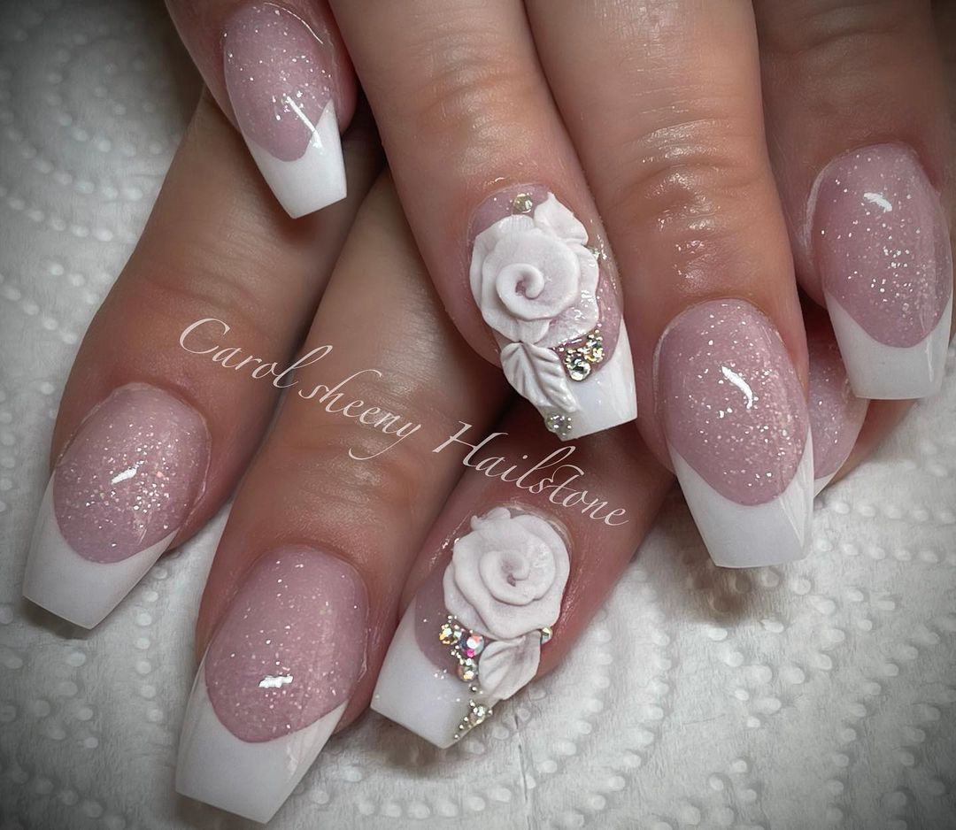 clear nails with francesinha 24