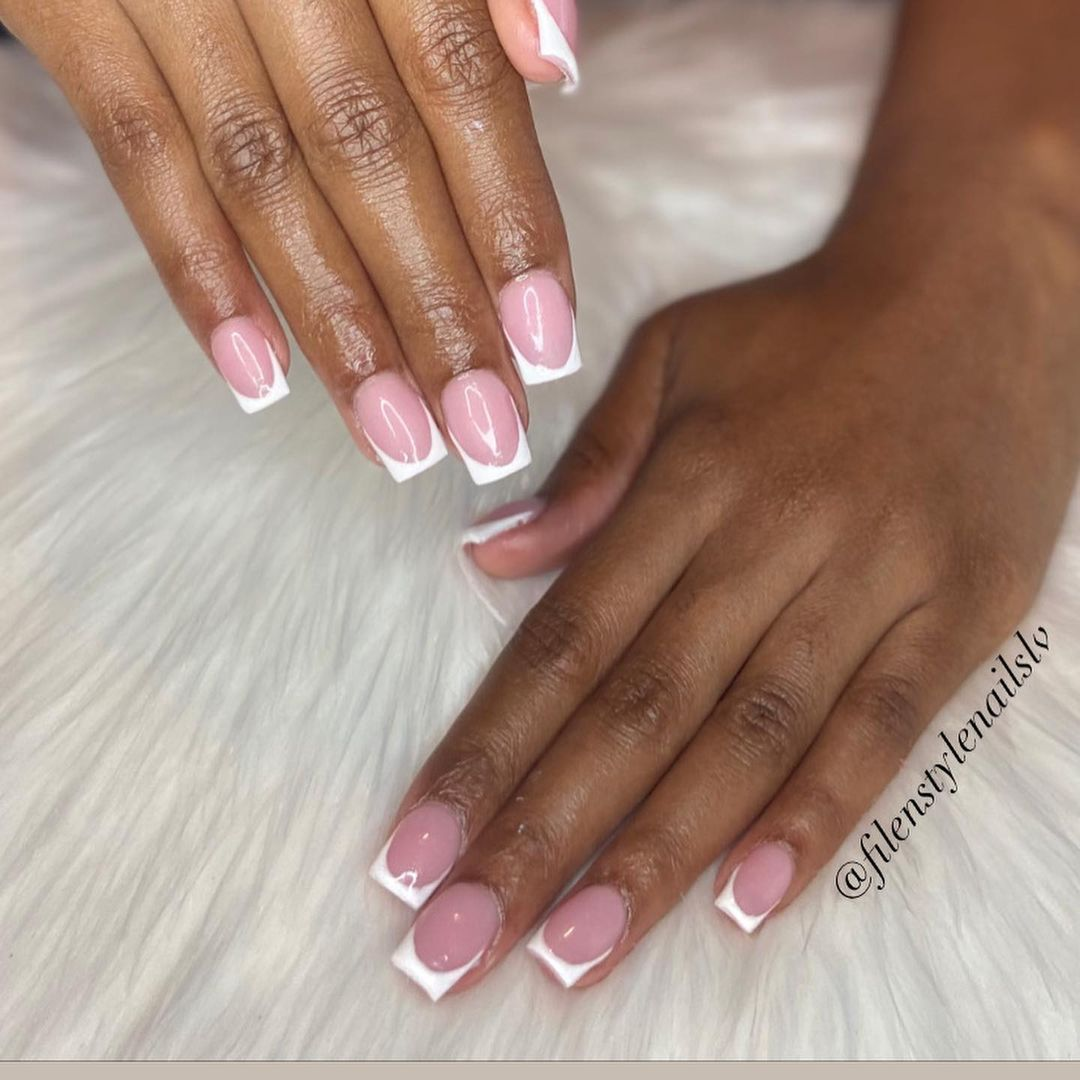 clear nails with francesinha 3
