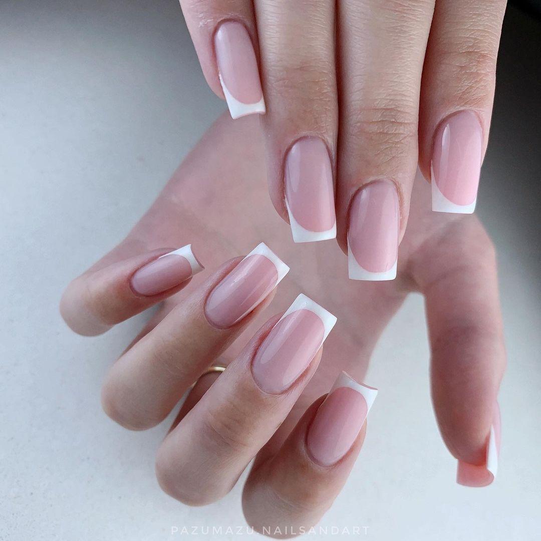 clear nails with francesinha 5
