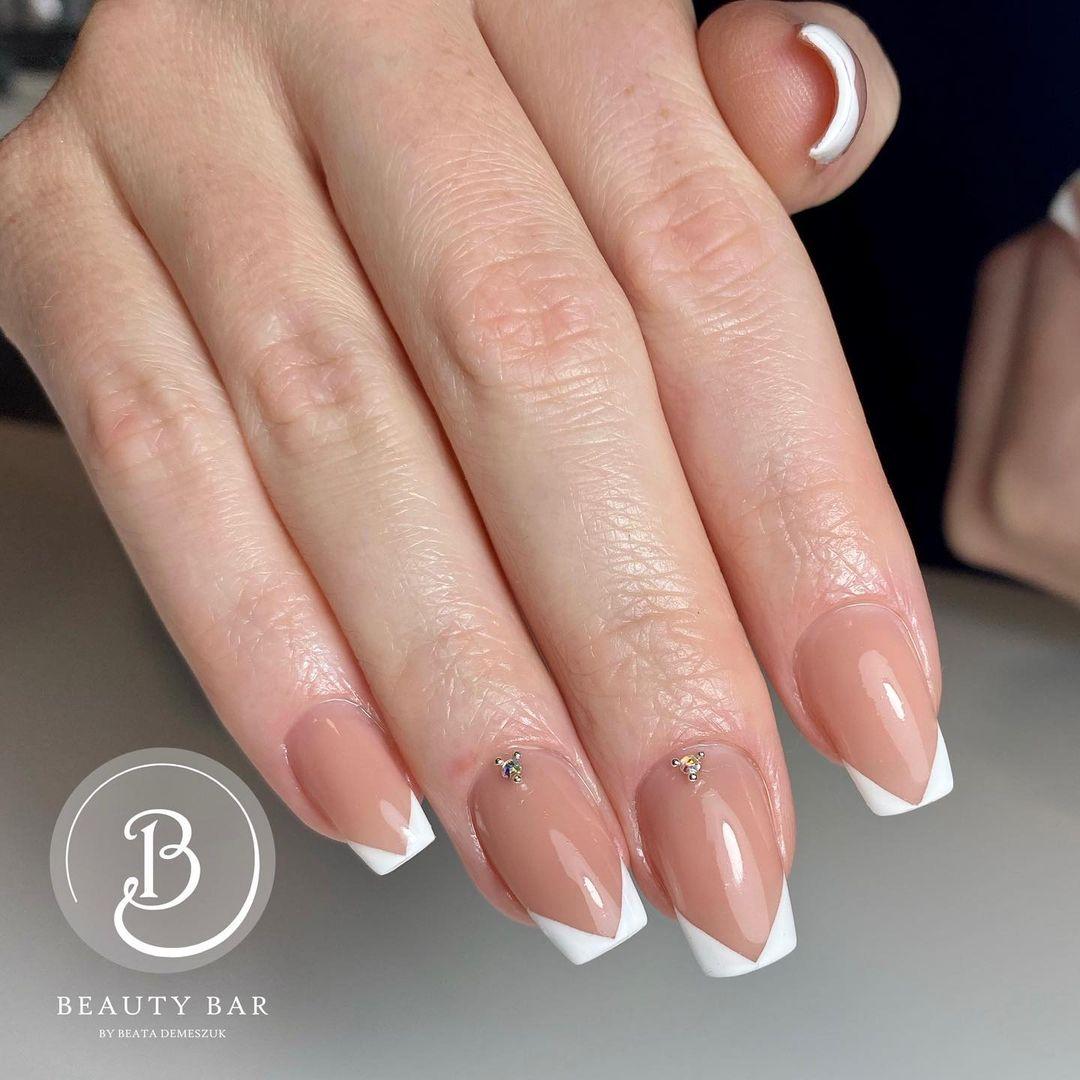 clear nails with francesinha 6