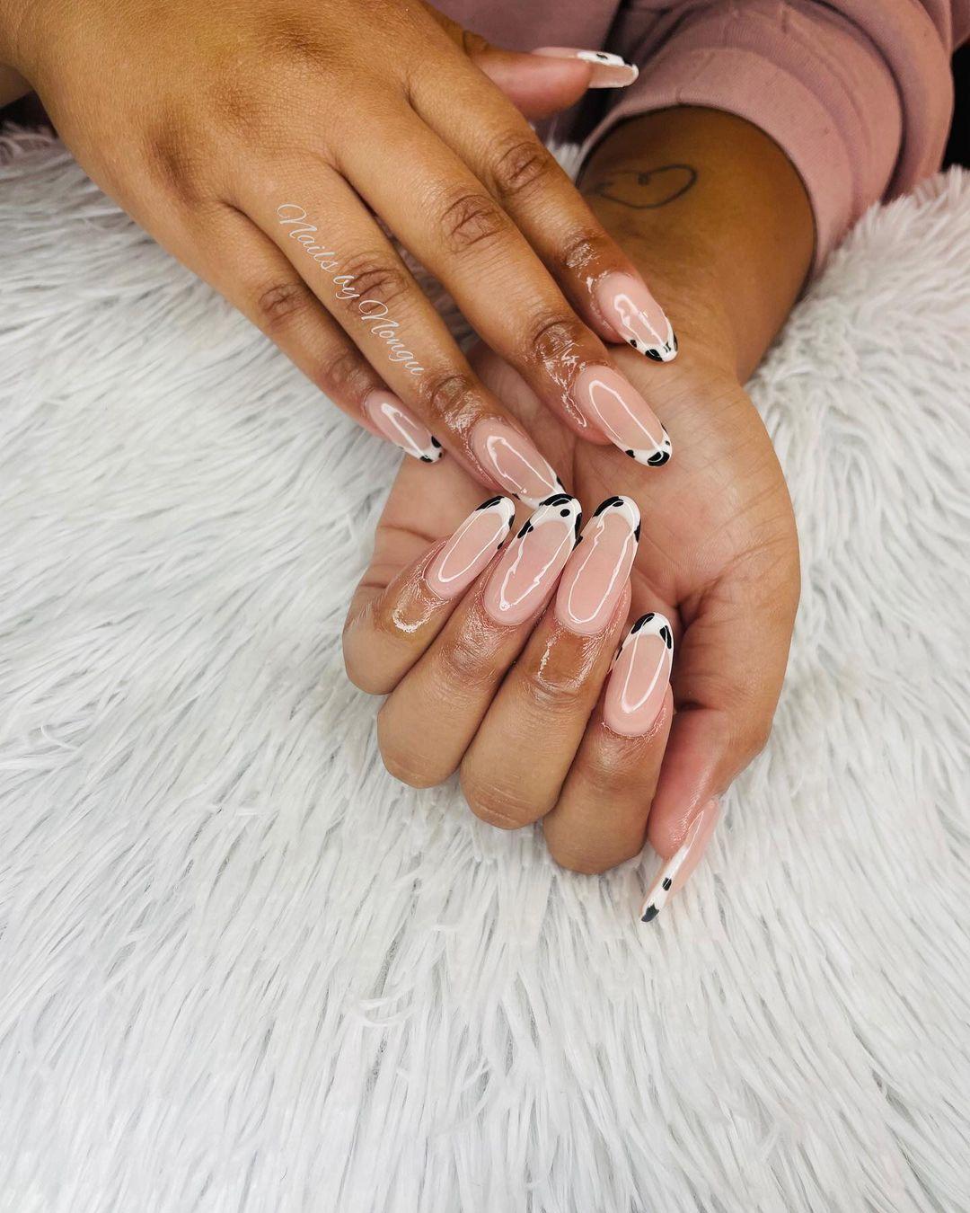 clear nails with francesinha 7