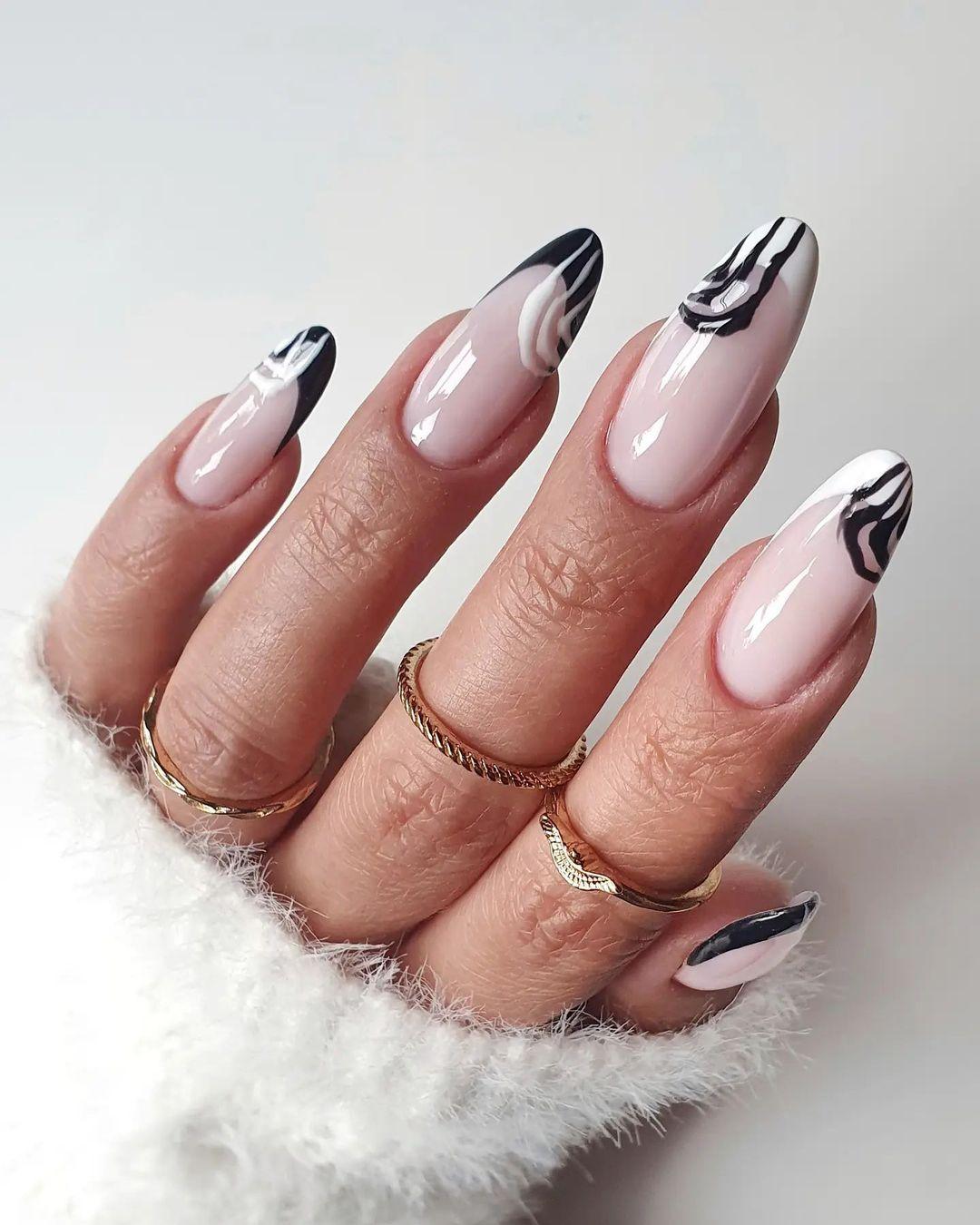 clear nails with francesinha 9