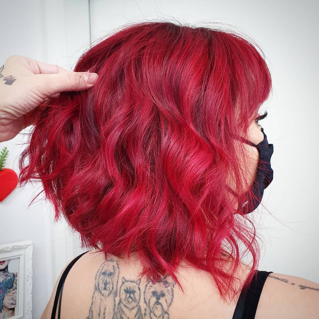 shade of red for brunettes 20